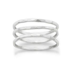 James Avery Sterling Silver Set of 3 Forged Rings